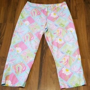 Lilly Pulitzer | Vintage Floral Cropped Pants